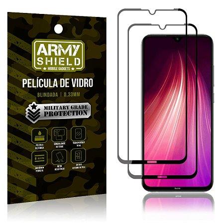 Kit 2 Películas de Vidro Blindada 3D Full Cover Redmi Note 8 - Armyshield