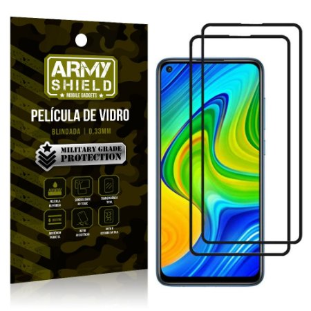Kit 2 Películas de Vidro Blindada 3D Full Cover Redmi Note 9 - Armyshield