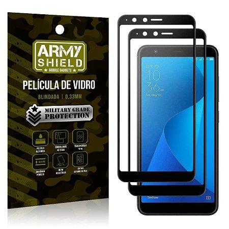 Kit 2 Películas de Vidro Blindada 3D Full Cover Zenfone Max Plus M1 ZB570TL - Armyshield