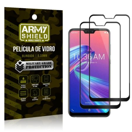 Kit 2 Películas de Vidro Blindada 3D Full Cover Zenfone Max Pro M2 ZB631KL - Armyshield