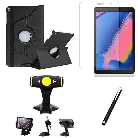 Kit Galaxy Tab A S Pen 8.0' P205/P200 Película + Capa Girat + Suporte Mesa + Caneta - Armyshield