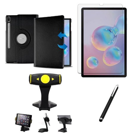 Kit Galaxy Tab S6 10.5' T865 Película + Capa Girat + Suporte Mesa + Caneta - Armyshield