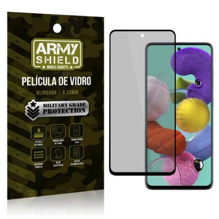 Película de Vidro 3D Privacidade Galaxy A51 - Armyshield