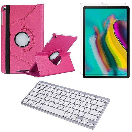Capa Giratória Pink Samsung Tab S5e 10.5 T725 + Película + Teclado - Armyshield