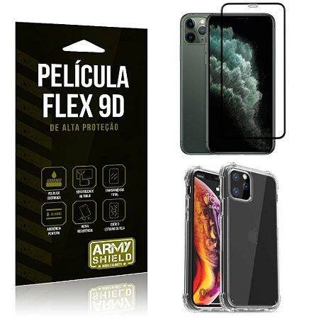 Capa Anti Impacto + Película Flex 9D Cobre a Tela Toda Blindada iPhone 11 Pro 5.8 - Armyshield