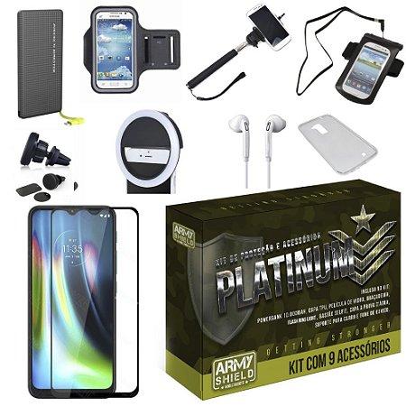 Kit Platinum Tipo C Moto G9 Play com 9 Acessórios - Armyshield