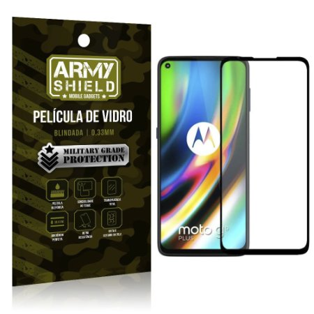Película de Vidro 3D Cobre a Tela Toda Blindada Moto G9 Plus - Armyshield
