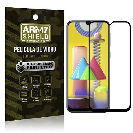 "Película de Vidro Blindada para Galaxy M31 tela 6,4"" Full Cover - Armyshield"