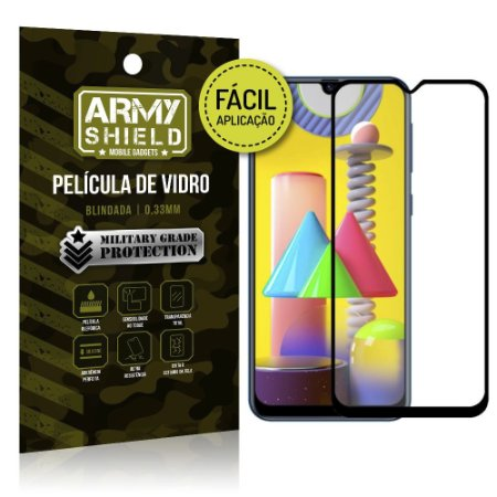 Película de Vidro 3D para Samsung M31 Fácil de aplicação - Armyshield