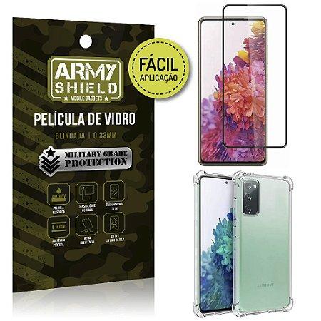 Kit Película 3D Fácil Aplicação Galaxy S20 FE Película 3D + Capa Anti Impacto - Armyshield