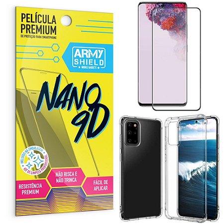 Kit Película Premium Nano 9D para Galaxy S20 Plus + Capa Anti Impacto - Armyshield