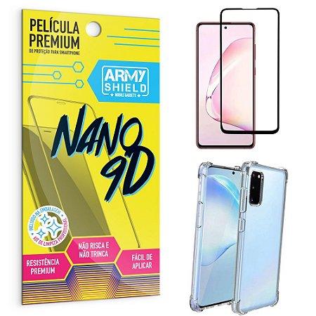 Kit Película Premium Nano 9D para Galaxy S10 Lite + Capa Anti Impacto - Armyshield