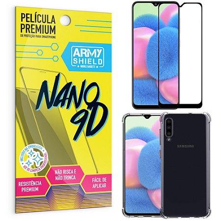 Kit Película Premium Nano 9D para Galaxy A30S + Capa Anti Impacto - Armyshield