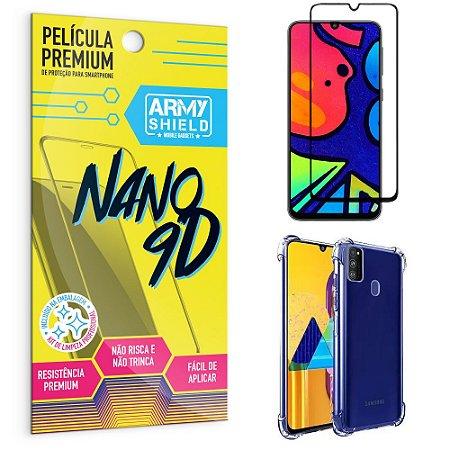 Kit Película Premium Nano 9D para Galaxy M21S + Capa Anti Impacto - Armyshield