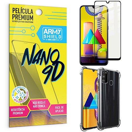 Kit Película Premium Nano 9D para Galaxy M31 + Capa Anti Impacto - Armyshield