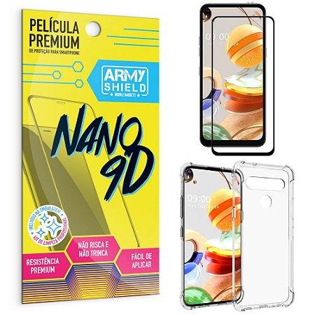Kit Película Premium Nano 9D para LG K61 + Capa Anti Impacto - Armyshield