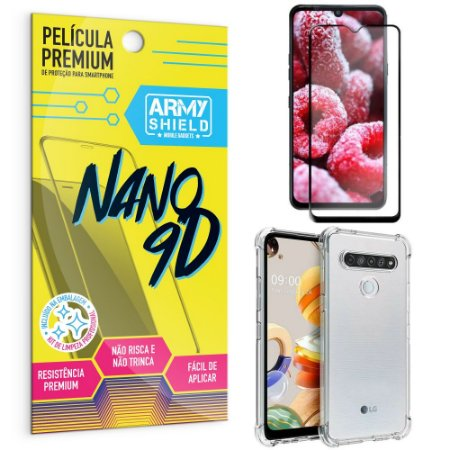 Kit Película Premium Nano 9D para LG K41s + Capa Anti Impacto - Armyshield