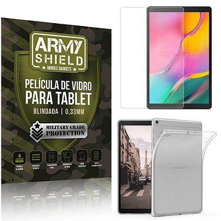 Kit Capa Anti Impacto + Película de Vidro Galaxy Tab A 10.1' T515 T510 - Armyshield