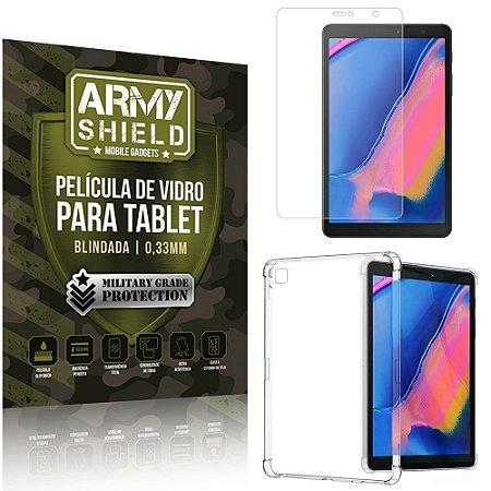 Kit Capa Anti Impacto + Película de Vidro Galaxy Tab A S Pen 8.0' P205 P200 - Armyshield
