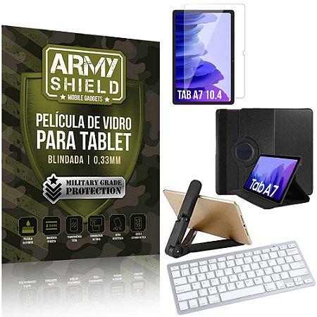 Kit Suporte Dobrável Tab A7 10.4 T500 T505 + Teclado sem fio + Capa + Película Armyshield