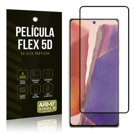 Película Flex 5D Cobre a Tela Toda Blindada Galaxy Note 20 - Armyshield