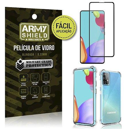 Kit Película 3D Fácil Aplicação Galaxy A52 Película 3D + Capa Anti Impacto - Armyshield