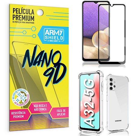 Kit Película Premium Nano 9D para Galaxy A32 + Capa Anti Impacto - Armyshield