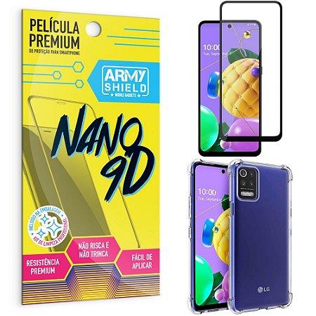 Kit Película Premium Nano 9D para LG K62 + Capa Anti Impacto - Armyshield