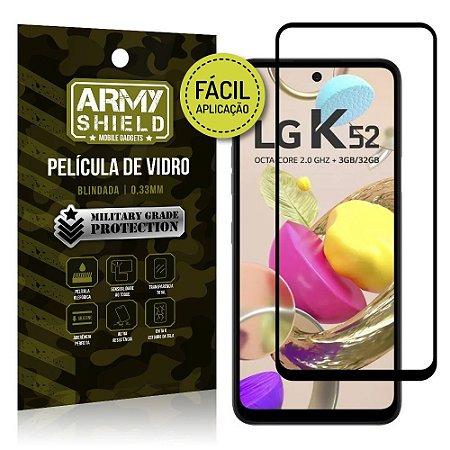 Película de Vidro 3D para LG K52 Fácil de aplicação - Armyshield