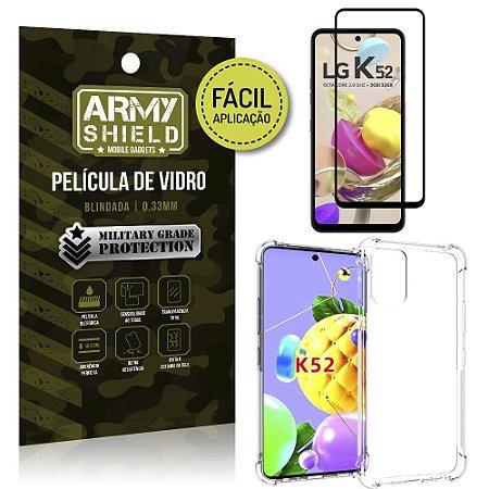 Kit Película 3D Fácil Aplicação LG K52 Película 3D + Capa Anti Impacto - Armyshield