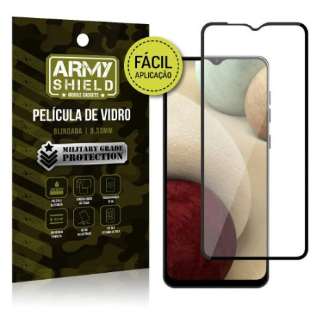 Película de Vidro 3D para Samsung A12 Fácil de aplicação - Armyshield