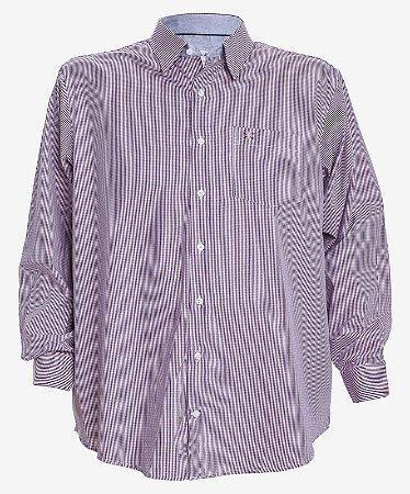 Camisa Manga Longa Xadrez Vinho