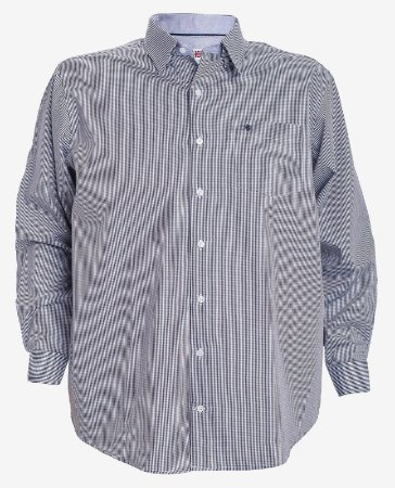 Camisa Manga Longa Xadrez Marinho