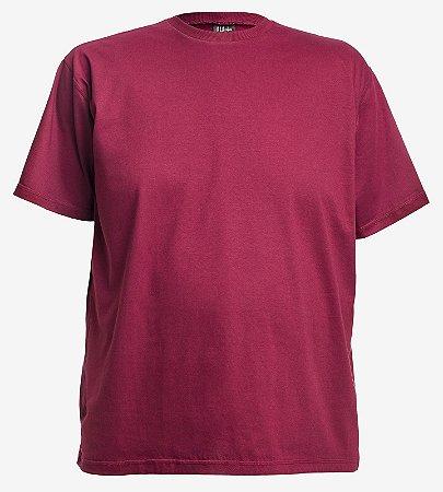 Camiseta Basica Gola C Marsala