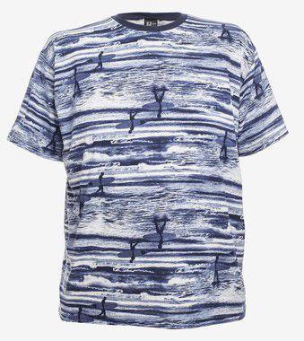 Camiseta Estampada Gola Careca Marinh0