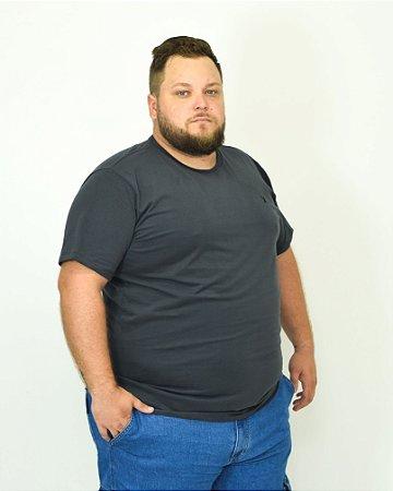 CAMISETA BÁSICA BORDADA CHUMBO