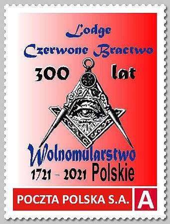 2021 Polônia - 300 anos da Maçonaria Polonesa - esquadro e compasso MIn - SP