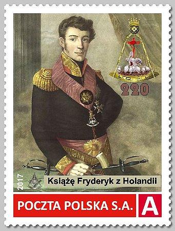 2017 -Polônia - Principe Frederico do Holanda, maçom 220 anos - Grau Rosacruz