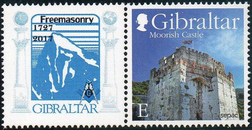 2017 - Gibraltar - 290 anos da chegada da Maçonaria SP (mint)