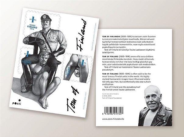 2014 Finlândia - Série Tom da Finlândia-  Cartela de 03 selos Autoadesivos