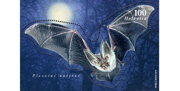 2012 Suíça Bloco Morcego (mint)