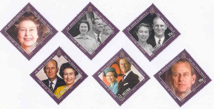 2011 Santa Helena (Il Britânica) Série Príncipe Felipe (6 selos)