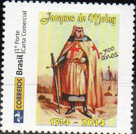 2014 Selo Personalizado 700 anos do Martírio de Jacques De Molay