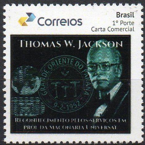 2017 Homenagem ao maçom Thomas W Jackson (selo personalizado) Mint