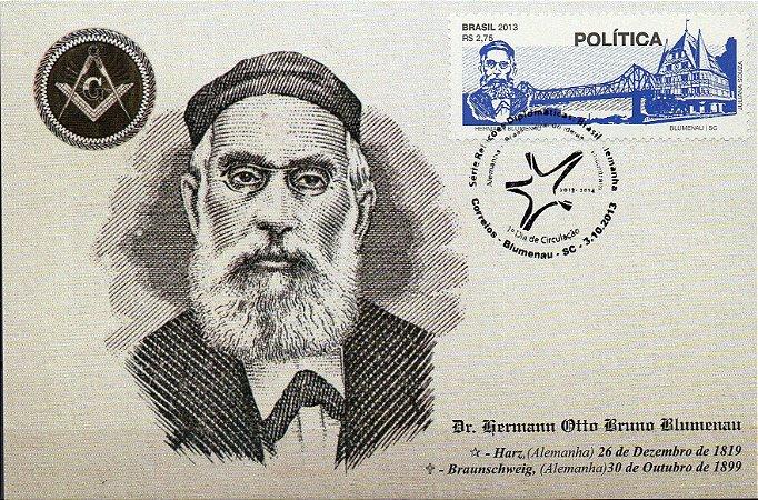 2013 Máximo Postal Dr Blumenau - Série Relações Diplomáticas Brasil e Alemanha