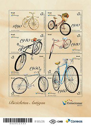 2017 Bicicletas Antigas (minifolha) Nova (mint) Antique Bicycles