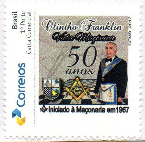2017 50 anos de Vida Maçônica do Dr Olintho Franklin