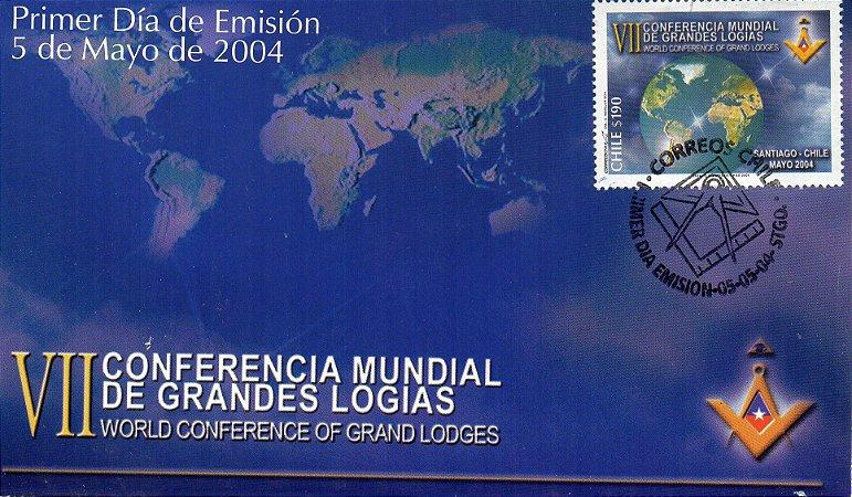 2004 Chile FDC (oficial)  VII Conferência Mundial de Grandes Lojas