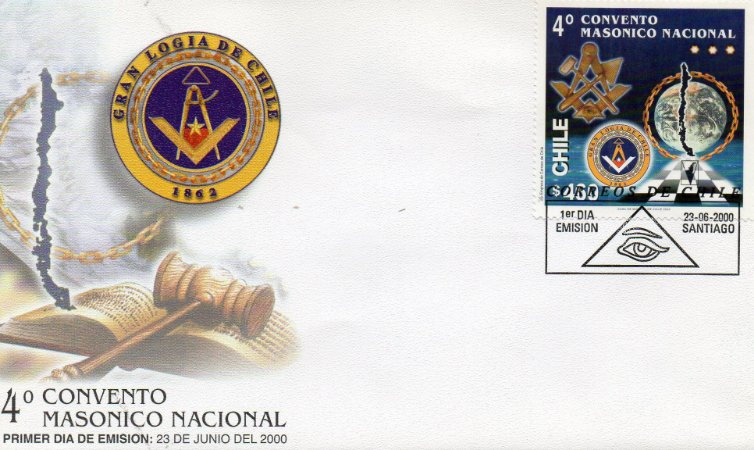 2000 Chile FDC (oficial) 4º Congresso Maçônico Nacional