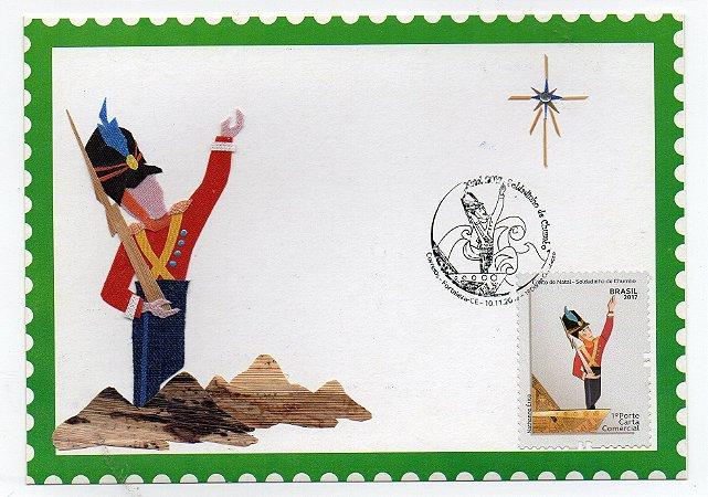 2017 Máximo Postal - Natal Soldadinho de Chumbo - artesanato com tecido e palha